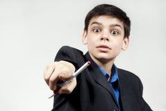 pojkehand hans pennshows Arkivbilder