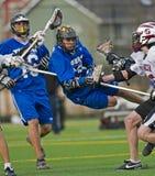 pojkejv-lacrosse Royaltyfri Fotografi