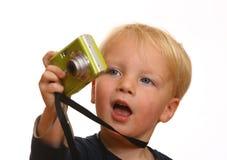 pojkekamerabarn Fotografering för Bildbyråer