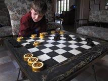 pojkekontrollörer inkvarterar wakullabarn Arkivfoton
