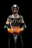 pojkelacrossespelare royaltyfri fotografi