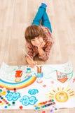Pojkemålning Arkivfoto