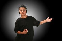 pojkemusik Arkivfoton