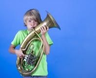Pojkemusiker Royaltyfria Bilder