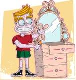Pojken bränner dockan Stock Illustrationer