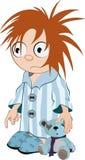 Pojken i en pajama vektor illustrationer