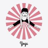 Pojken i en yoga poserar 5 Royaltyfri Bild