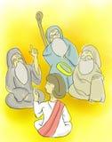 Pojken Jesus At The Temple Arkivfoton