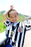 pojken ler barn Royaltyfri Foto