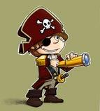 pojken little piratkopierar stock illustrationer