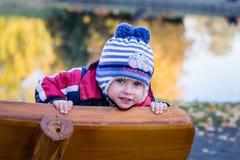 Pojken med blått synar Royaltyfria Foton
