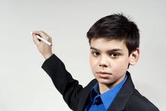 pojken säger dräkten Arkivfoton