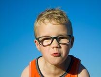 Pojken trutar Royaltyfri Bild