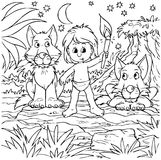 pojkepackewolfs Arkivbild