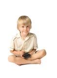 pojkepda Fotografering för Bildbyråer