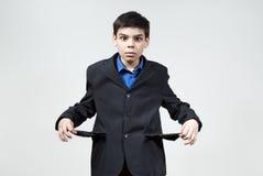 pojkepengar inget förvånadt Arkivfoto