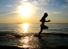 pojkerunning Fotografering för Bildbyråer