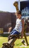 Pojkesammanträde på ankaret fotografering för bildbyråer