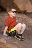 Pojkesammanträde på Rock Arkivfoton