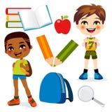pojkeskola royaltyfri illustrationer