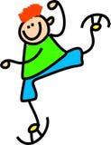 pojkeskridskoåkning Arkivfoto