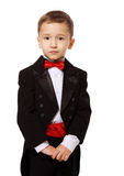 pojkesmokingslitage royaltyfri fotografi