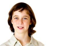 pojkeståendetonåring Arkivbild