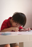 pojketeckning arkivfoto