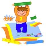 pojketeckning vektor illustrationer