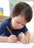 Pojketeckning Arkivfoton
