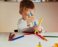 pojketeckning little Fotografering för Bildbyråer