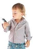 pojketelefon arkivbild