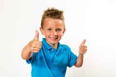 pojketum upp Fotografering för Bildbyråer