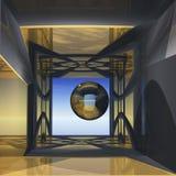 pokój abstrakcyjny pogląd ilustracja wektor