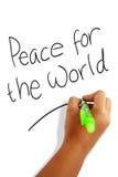 Pokój dla światu Fotografia Royalty Free