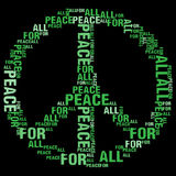 Pokój Dla Wszystkie Czarnego BG Ilustracji