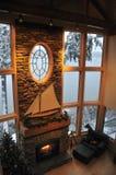 pokój dzienny zima Zdjęcia Royalty Free