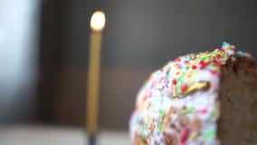 Pokój Easter i świeczka na stole zbiory