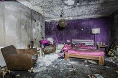 pokój hotelowy po dużego ogienia Zdjęcia Royalty Free
