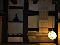 Pokój jest krokiem, Japońskim atmosferą i światłem każdy, obrazy royalty free