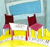 pokój muzyczny Obraz Stock