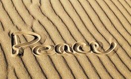 Pokój Pisać w piasku przy Wielkim piasek diun parkiem narodowym i Obraz Royalty Free