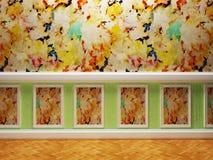 Pokój w ciekawym projekcie royalty ilustracja