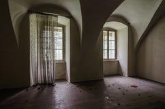 pokój w zaniechanym kasztelu obrazy royalty free
