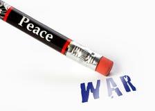 Pokój wymazuje wojnę Zdjęcia Stock