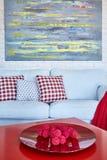 Pokój z czerwień stołem Obraz Stock