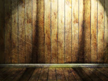 Pokój z drewnianym podstrzyżeniem ilustracji
