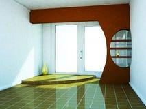 Pokój z dużym okno ilustracji