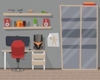 Pokój z pracującym miejscem Obraz Royalty Free