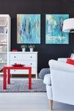 Pokój z puszystym dywanem Obraz Stock